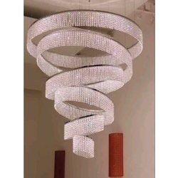 Glass Roof Mount Luxury Crystal LED Chandelier