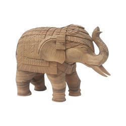 Brown Decorative Wooden Elephant, For Decoration