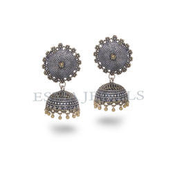 Antique Silver Gold Jhumka