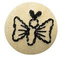 Embroidery Butterfly Design With Color Tread Work Buttons