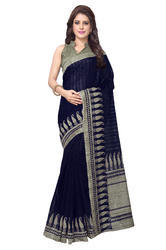 Mirchi Fashion Navy Blue Bhagalpuri Silk Casual Wear Saree