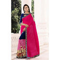 Ladies Party Wear Georgette Sarees, 6.3 M (with Blouse Piece)
