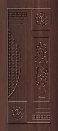 Hard Wood Brown 2D Carving Moulding Doors, Thickness: 30mm, For Flush Doors