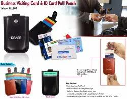Business Visiting Card & ID Card Pull Pouch H-1103