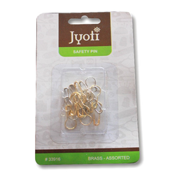Jyoti Pear Pin  Brass  Assorted