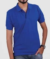 Plain Polo Neck Mens Cotton Polo T Shirt, Packaging Type: Packet, Size: L