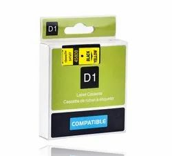 Dymo 40918 9mm Black On Yellow D1 Label Tape, Compatible