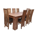 8 Chairs Wooden Dining Table Set