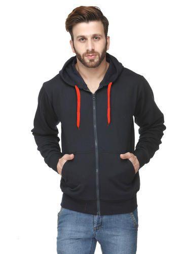 scott 300 gsm zipper sweatshirt with hood navy blue