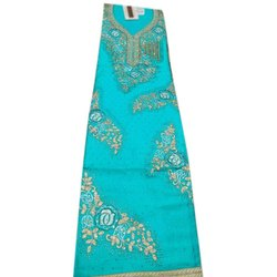 Casual Cambric Cotton Unstitched Ladies Embroidered Suits