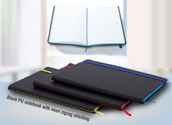 Neon Notebook With Zigzag Stitch