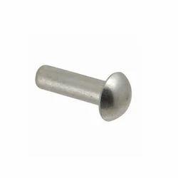温和的钢圆头铆钉