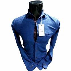 Men Denim Full Sleeve Shirt