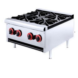 Stainless Steel Four Burner Gas Stove, For Commercial