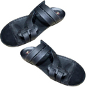 Mens Leather And Pu Black Slippers, Size: 6-14