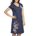 Cotton Floral Women's Long Top Nightwear