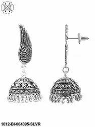 German Silver Oxidized Handmade Jhumki/Earrings