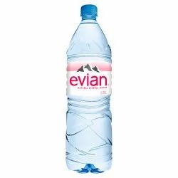 Evian Natural Packaged Drinking Mineral Water, Packaging Size: 1.5 Liter, Packaging Type: Box