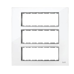 18 Module Black And White Modular Switch Plate