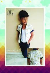 Multicolor Cotton Kids Boy Shirt