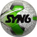 Syn6 White With Green Pu Soccer Ball- Ss5800, Size: 5