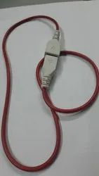 USB Cord with Cover, Cable Size: 0.8 Mtrs