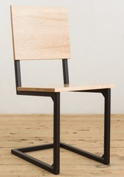 Steel School House Chair, Wooden Furniture