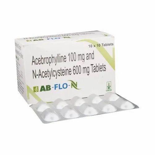 Acebrophylline 100mg & N Acetylcysteine 600mg Tablets