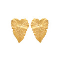 925 Sterling Silver Gold Plated Cherubina Earring Leaf Stud Designing Jewelry