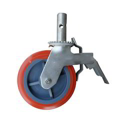 Rubber Caster With Roller Bearing