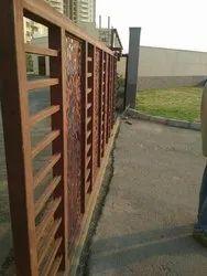 Black Mild Steel Telescopic Sliding Gate, for Commercial