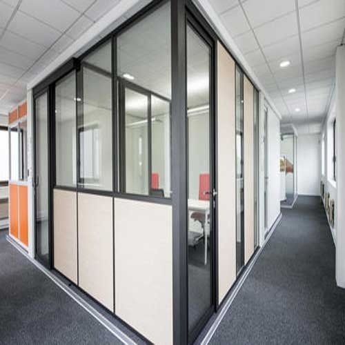 Flat 18 Gauge Aluminum Partition Power Coting Rs 165 Square Feet