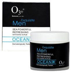O3 Exquisite Men Sea Powerful Refreshing Whitening Ocean Scrub for Normal to Dry Skin (300 ml)