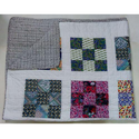 New Hand Block Printed Kantha Quilt