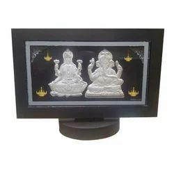 Rectangle Laxmi Ganesha Photo Frame