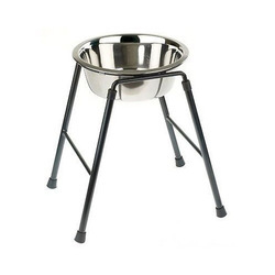 Stainless Steel Dog Bowl  With Stand