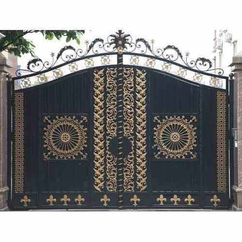 Color Coated Ss Main Gate Size 10 X 8 Feet Rs 700