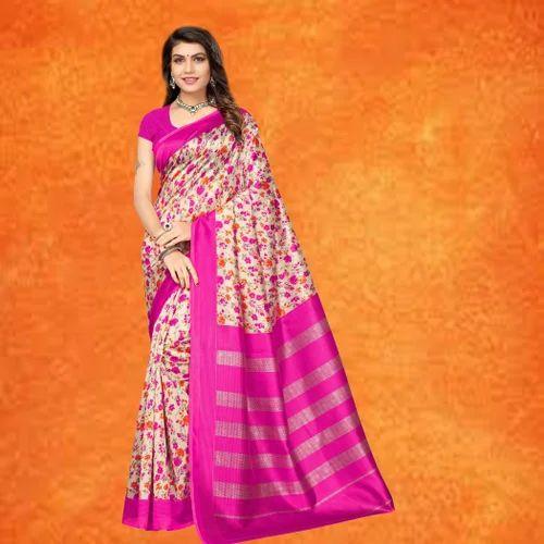 9e2cd9a099 Mysore Silk Kalamkari Printed Saree, Length: 6.3 M, Rs 295 /piece ...