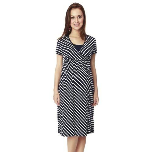 7bcbb2145ac Nine Maternity Wear Dress In Navy Stripe