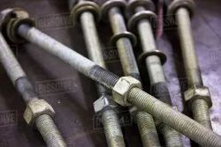 Silver Hexagonal Large Bolts and Nuts For Industrial