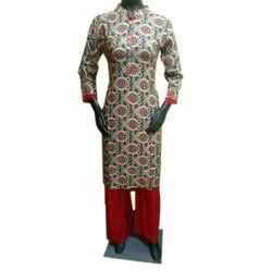 Straight 3/4th Sleeve Casual Cotton Kurti, Wash Care: Handwash, Size: Small to XL