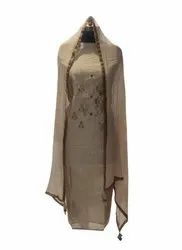 Unstitched Embroidery Formal Chanderi Suit