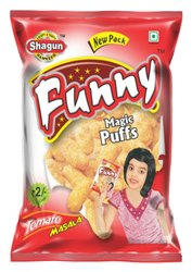 Corn & Rice Masala Salted Puffs, Packaging Size: 12 Grams