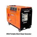Air Cooled 3 Kva Portable Silent Diesel Generator, Voltage: 220-240 V