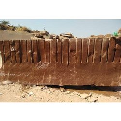 Red Un finished Sandstone Raw Block, for Flooring, Thickness: 20-30 Mm