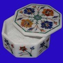 Marble Jewelry Box with Inlay
