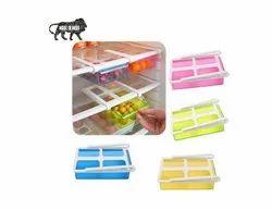 Refrigerator Space Saver Organizer Slide Storage Rack Shelf Drawer Storage - REFRIGERATOR_BUCKET