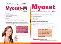 Myoset- Myo-Inositol 1gm Methyllfolate 1mg  Vitamin D3 1000 I.U