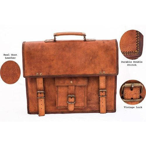 cc1e2c19fb Leather 13 inch Messenger Bag Boys   Girls at Rs 950  piece ...