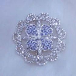 American Diamond Saree Pin